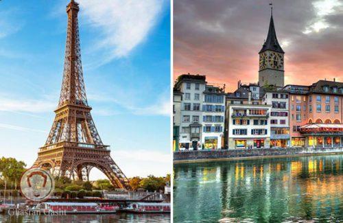 تور پاریس زوریخ