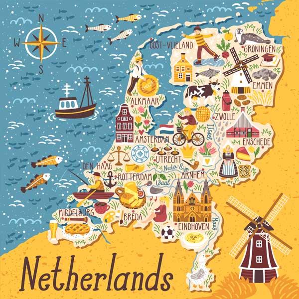 مراحل گرفتن ویزای هلند